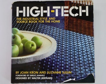 High-Tech The Industrial Style Source Book for the Home Joan Kron Suzanne Slesin 1978 vintage interior design book first edition lofts