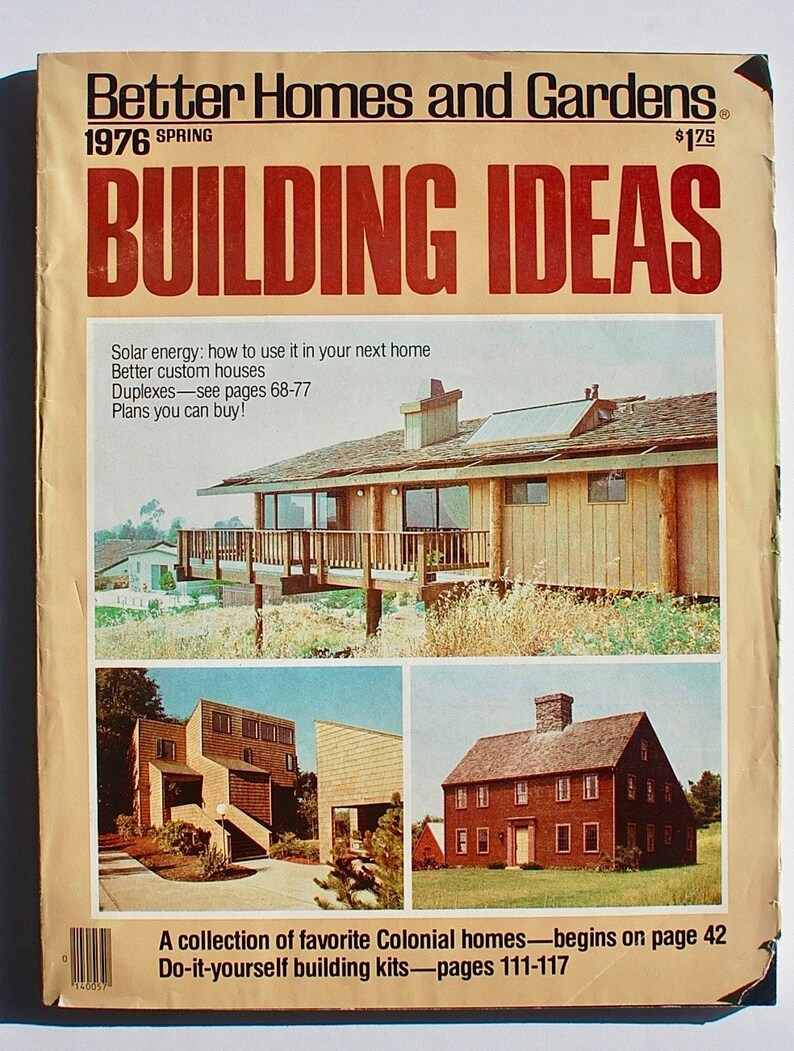 Better Homes And Gardens Building Ideas 1976 Magazine Mcm Etsy