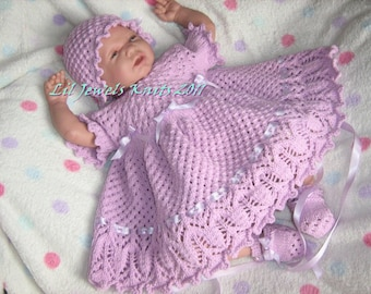 Lilac n Lace Reborn Baby Knitting Pattern