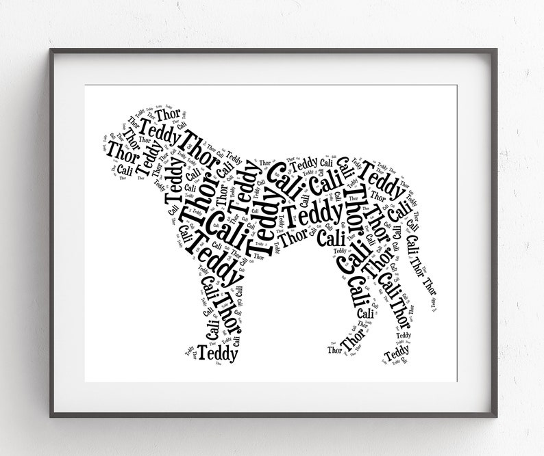 English Mastiff custom dog portrait with pets name, best friend dog lover  gift for Dog Mom Dog Dad, unique pet memorial pet loss gifts idea