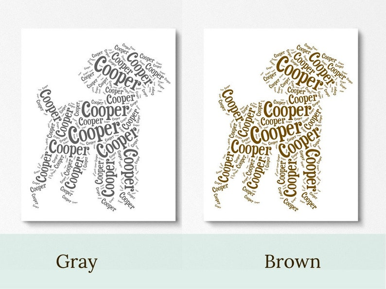 personalized death of toy poodle pet loss gifts loss of dog wall art remembrance gift Poodle custom name pet memorial sympathy gift ideas