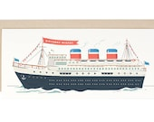 Birthday Ocean Liner - No. 10 Card