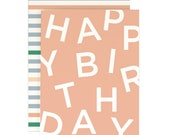 Blue Cupcake Birthday Card with Gold Foil