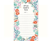 All We Need is Love List Pad