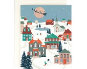 Folk Village - Holiday Card