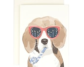 Beagle Birthday - Greeting Card