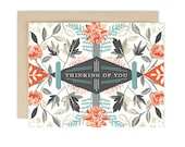 Thinking of You Geo Floral Card