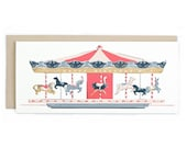Birthday Carousel - No. 10 Birthday Greeting Card