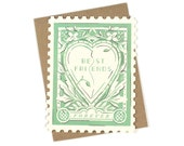 Best Friends Forever Stamp - Die cut card