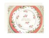 Fine China Poor Grammar - Love you the Mostest - Greeting Card