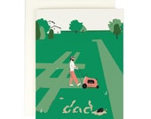 Dad Mowing #1 - Father's Day Card