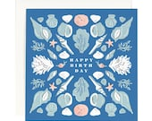 Seashell Birthday - Square Card