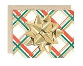 Plaid Bow - Holiday Card