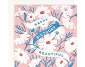 Happy Birthday Beautiful - Square Card