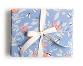 Floral Bee Gift Wrap