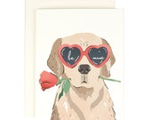Be Mine Heart Eye Pup - Valentines Day Card
