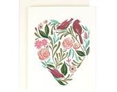 Floral Heart Card