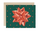 Dot Bow - Holiday Card