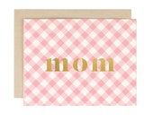 Mom Gingham - Mother's Day/Everyday Card