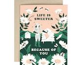 Life is Sweeter Beekeeper - greeting card