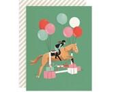 Equestrian Birthday - Greeting Card