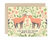 You Make my Heart Skip a Bleat - Greeting Card