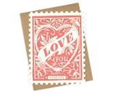 I Love You Forever Stamp - Die cut card