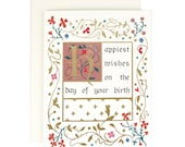 Illuminated Manuscript Birthday - Birthday Card