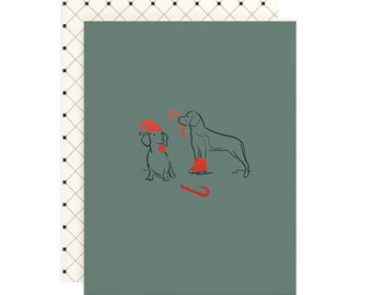 Dachshund Beagle Sketch - Holiday Card