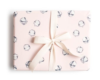 Blush Jingle Bell Gift Wrap