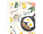 Life with you is EGG-cellent - Greeting Card with gold foil
