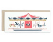 Birthday Carousel - No. 10 Birthday Greeting Card