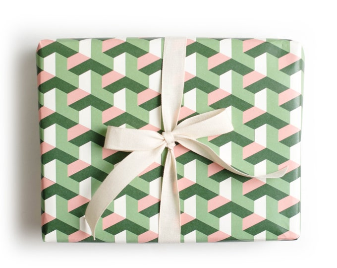 Geometric Tile Gift Wrap