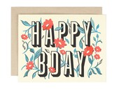 Floral HAPPY BDAY Card