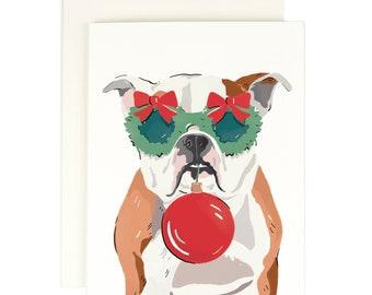 English Bull Dog - Holiday Card