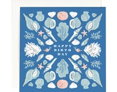 Seashell Birthday - Square Card