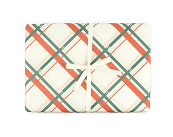 Vintage Plaid Gift Wrap