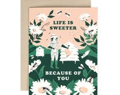 Life is Sweeter Beekeeper - greeting card