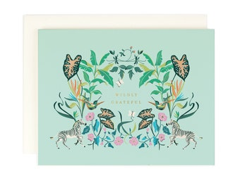 Wildly Grateful - Thank You Card