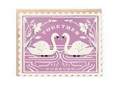 Together Forever Stamp - Die cut card
