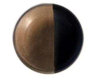 Small ceramic vitamin plate - Rustic brown
