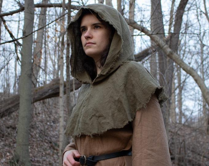 Ranger Hood, Robin Hood, Medieval Archer, Rustic Weathered /F/ (LB)
