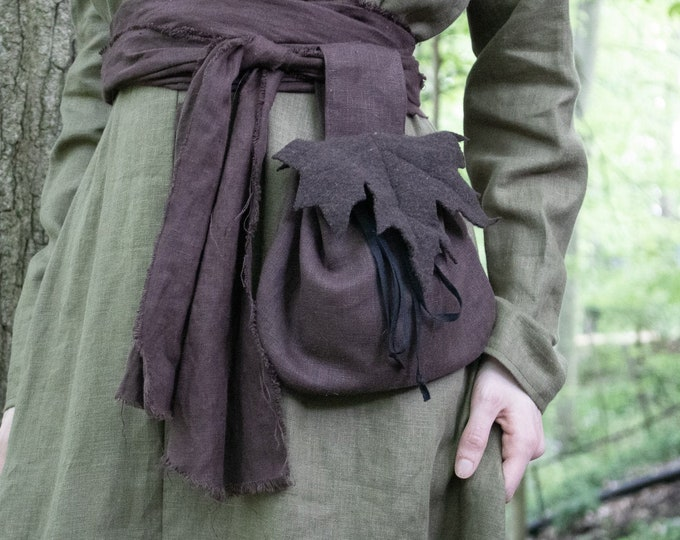 Fairy Leaf Belt Bag, Woodland Elf, Maple - /F/ (LB)