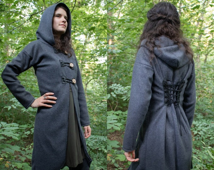 Fantasy Hooded Fleece Coat, Choose Size & Color, Woodland Collection, Hazel - /P/ (LB)