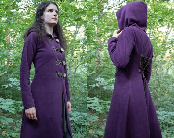 Elven Hooded Coat, Fantasy Style, Choose Size & Color, Woodland Collection - Willow - /P/ (LB)