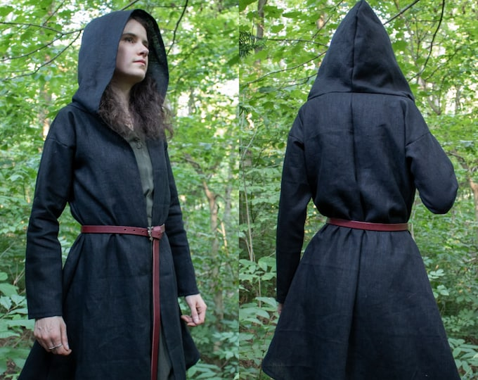 Elven Hooded Jacket, Fantasy Hood, Choose Size & Color, Woodland Collection, Rowan - /P/ (LB)