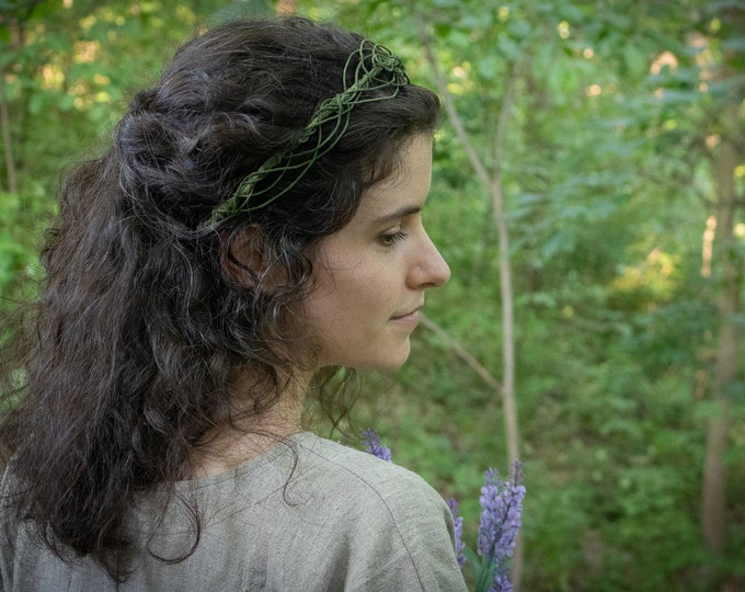 Elven Circlet, Celtic Handfasting,  Woodland Hair Wreath /F/ (LB)