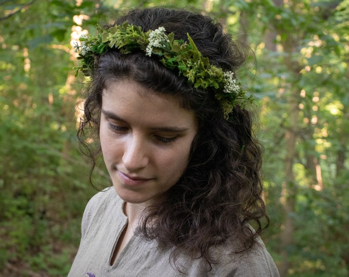 Flower Crown, Woodland Wedding, Fairy, Hair Wreath /F/ (LB)