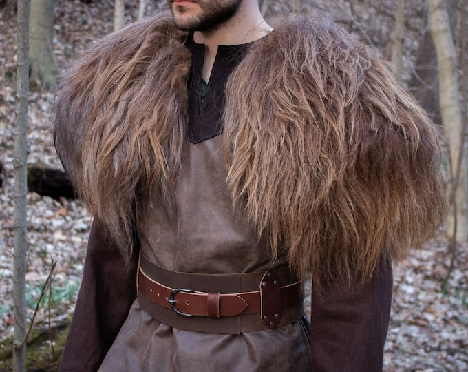 Vikings Fur Mantle, Icelandic Sheepskin Fur Deluxe L/XL - Choose Color /P/ (AB)