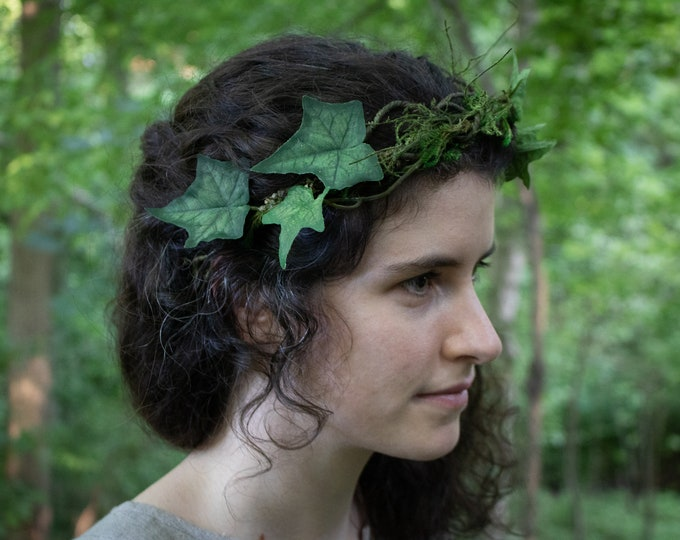 Ivy Leaf Crown, Elven Circlet, Woodland, Hair Wreath /F/ (LB)